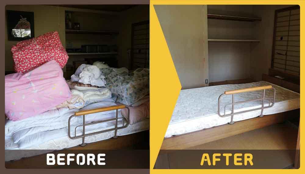 シングルベッドやソファーなど大型家具の処理にお困りのお客様からご依頼いただきました。