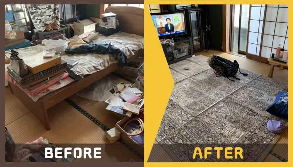 一人暮らしのお部屋の不用品の分別、処分にお困りのお客様からご依頼いただきました。