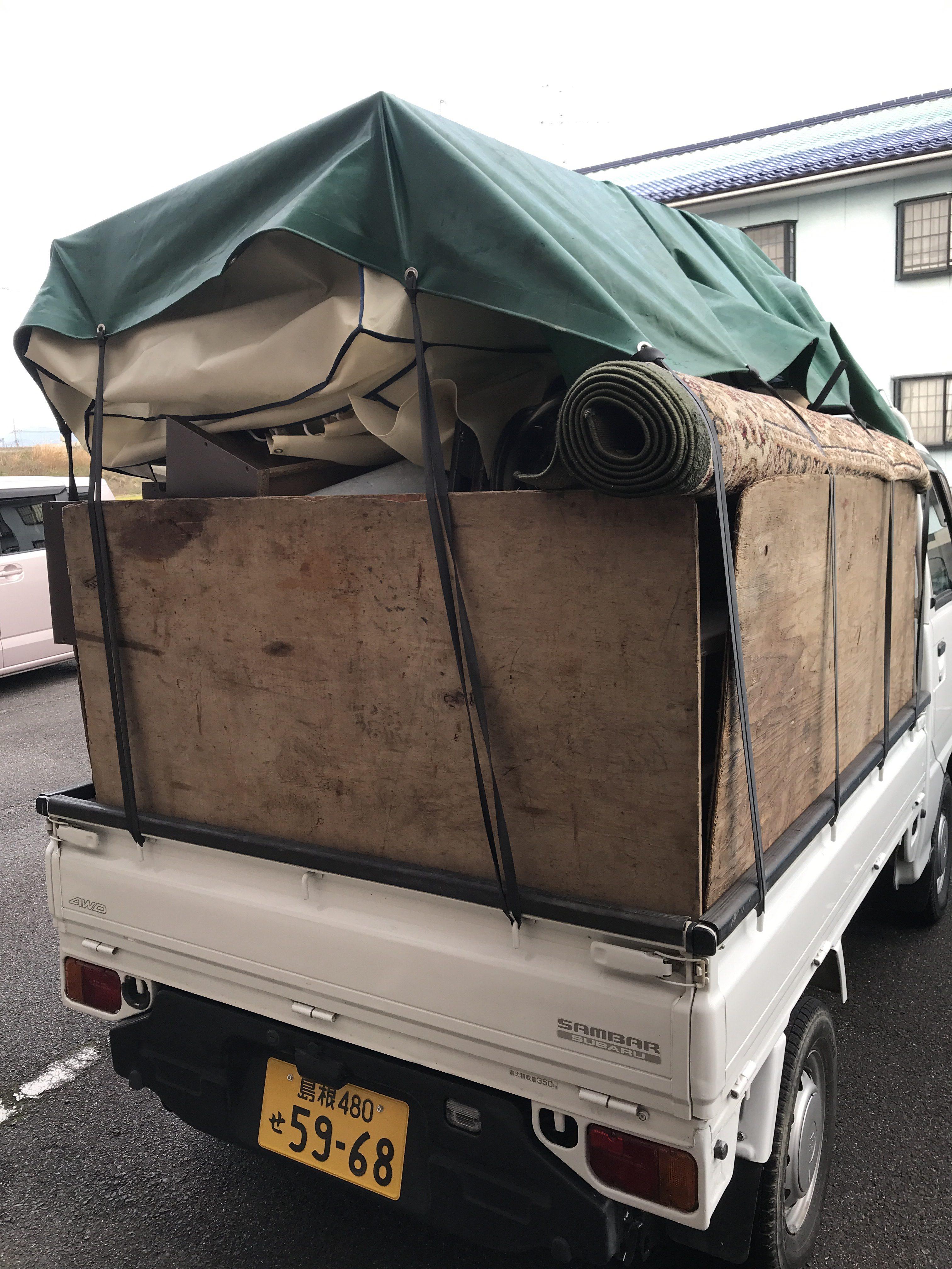 【隠岐の島町】引っ越しごみの回収☆ご希望のお日にち・お時間でのスピード搬出でお喜び頂けました。