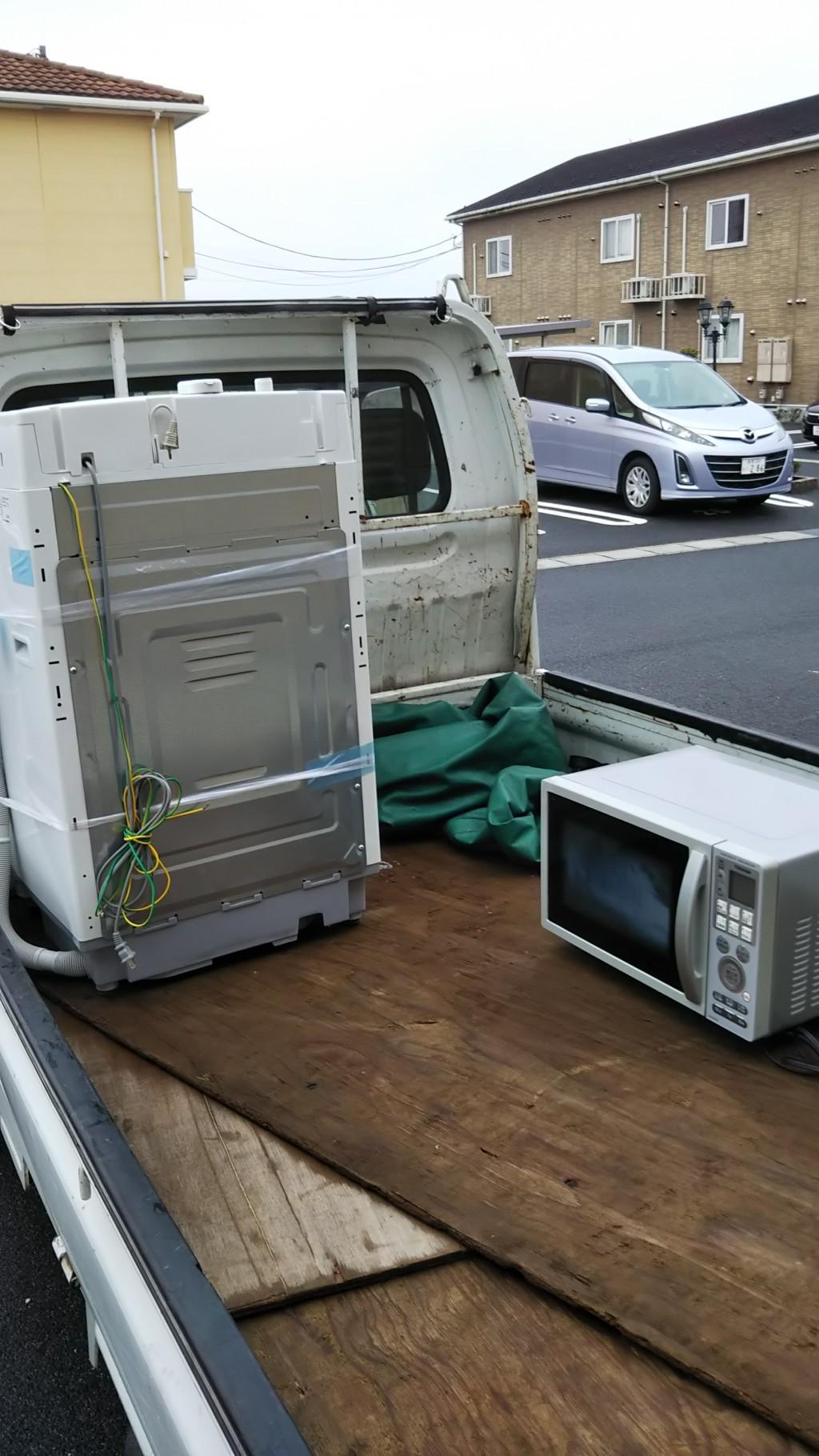 【江津市】洗濯機と電子レンジの回収 お客様の声