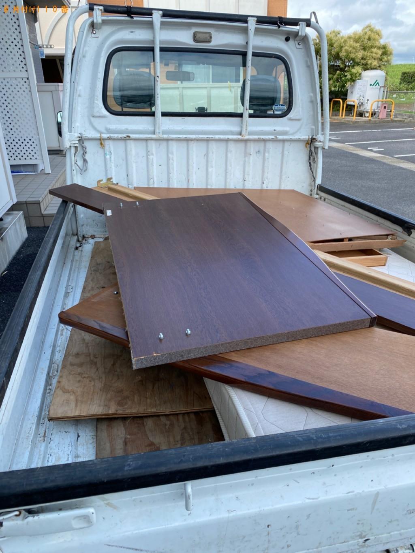 【出雲市下古志町】シングルベッド、ベッドマットレスの回収・処分