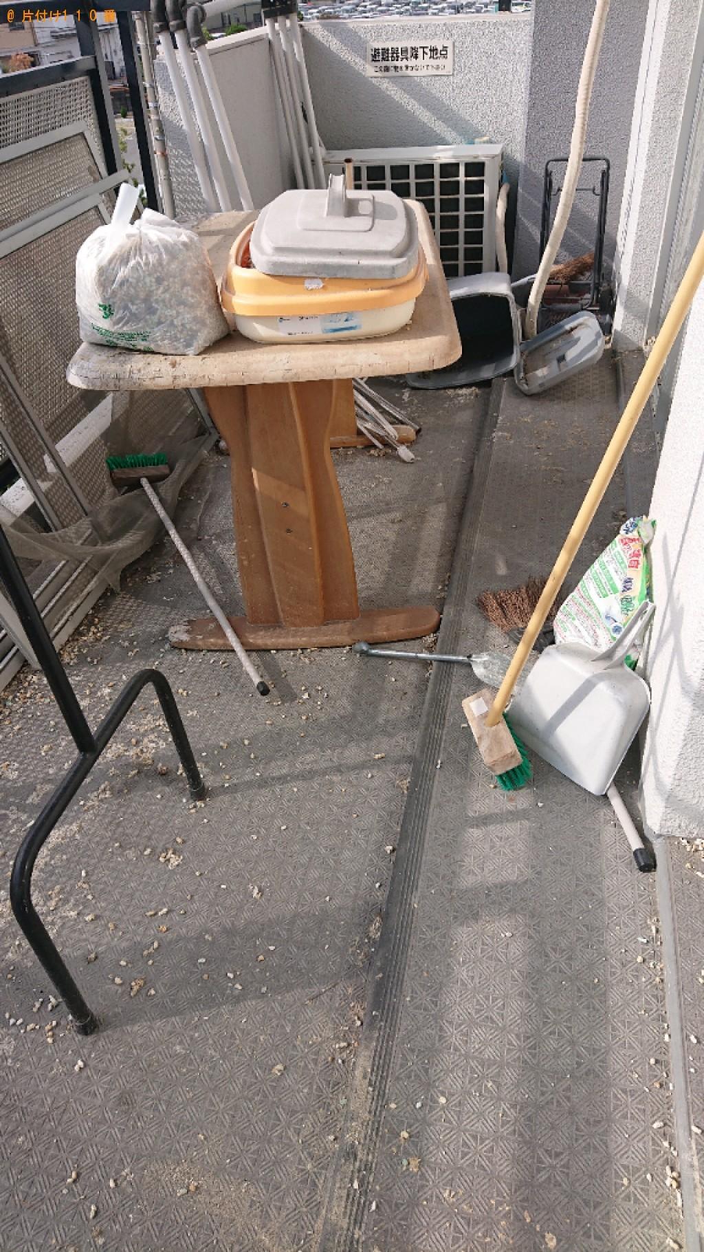 【松江市】テーブルの回収とベランダクリーニングご依頼 お客様の声
