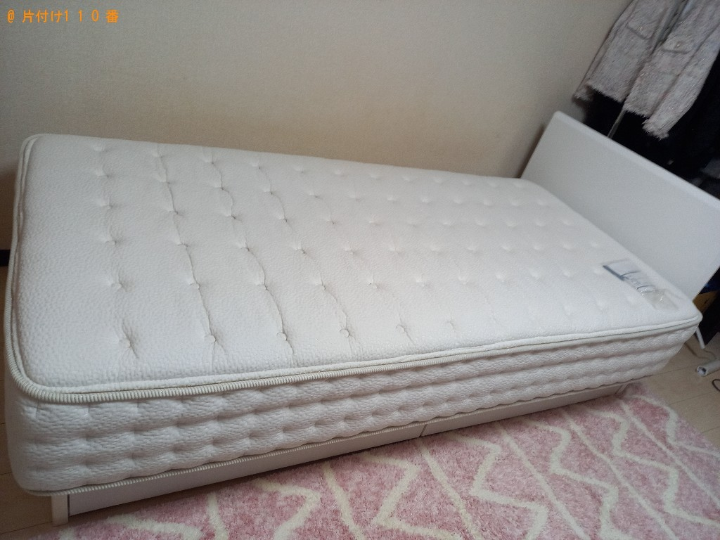 【松江市】マットレス付きシングルベッド、カラーボックスの回収