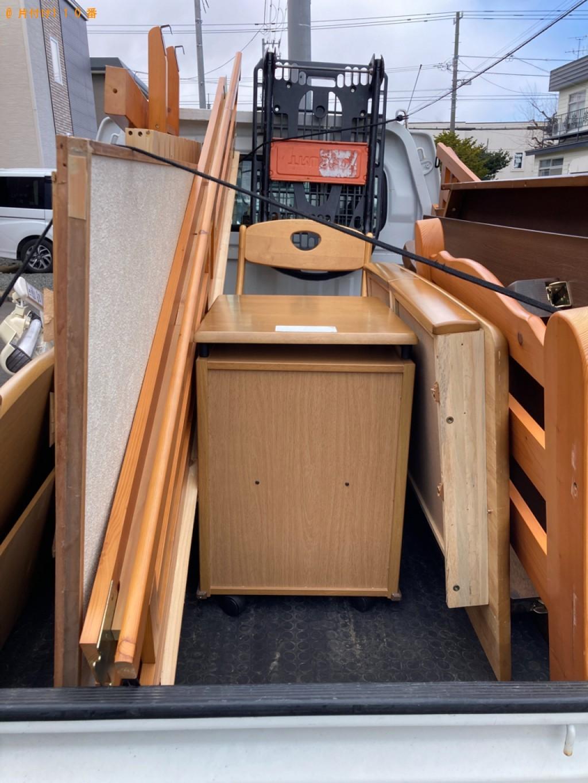 【松江市】二段ベッド、椅子、学習机等の回収・処分ご依頼