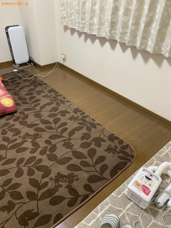 【松江市】マットレス付きセミダブルベッドの回収・処分ご依頼