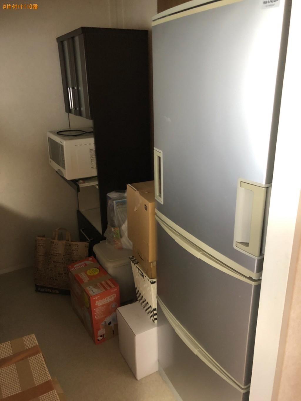 冷蔵庫、テレビ、洗濯機、マットレス付きシングルベッド等の回収
